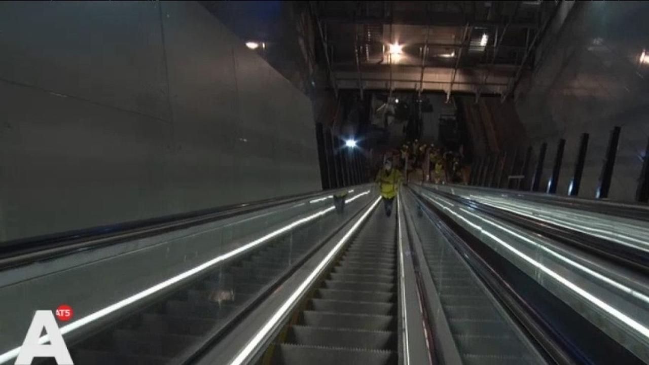 Amsterdam heeft de langste roltrap van de Benelux