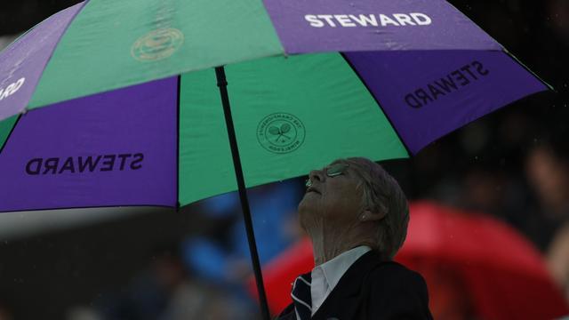 Wimbledon schrapt partijen vanwege regen