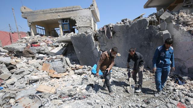 '112 lichamen geborgen in Mosul na luchtaanvallen coalitie'