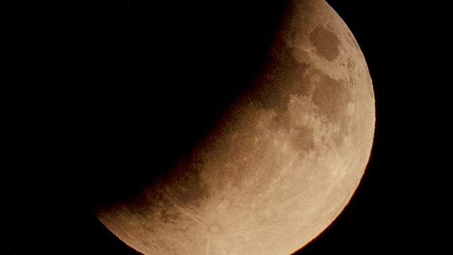 Gedeeltelijke maansverduistering in Nederland