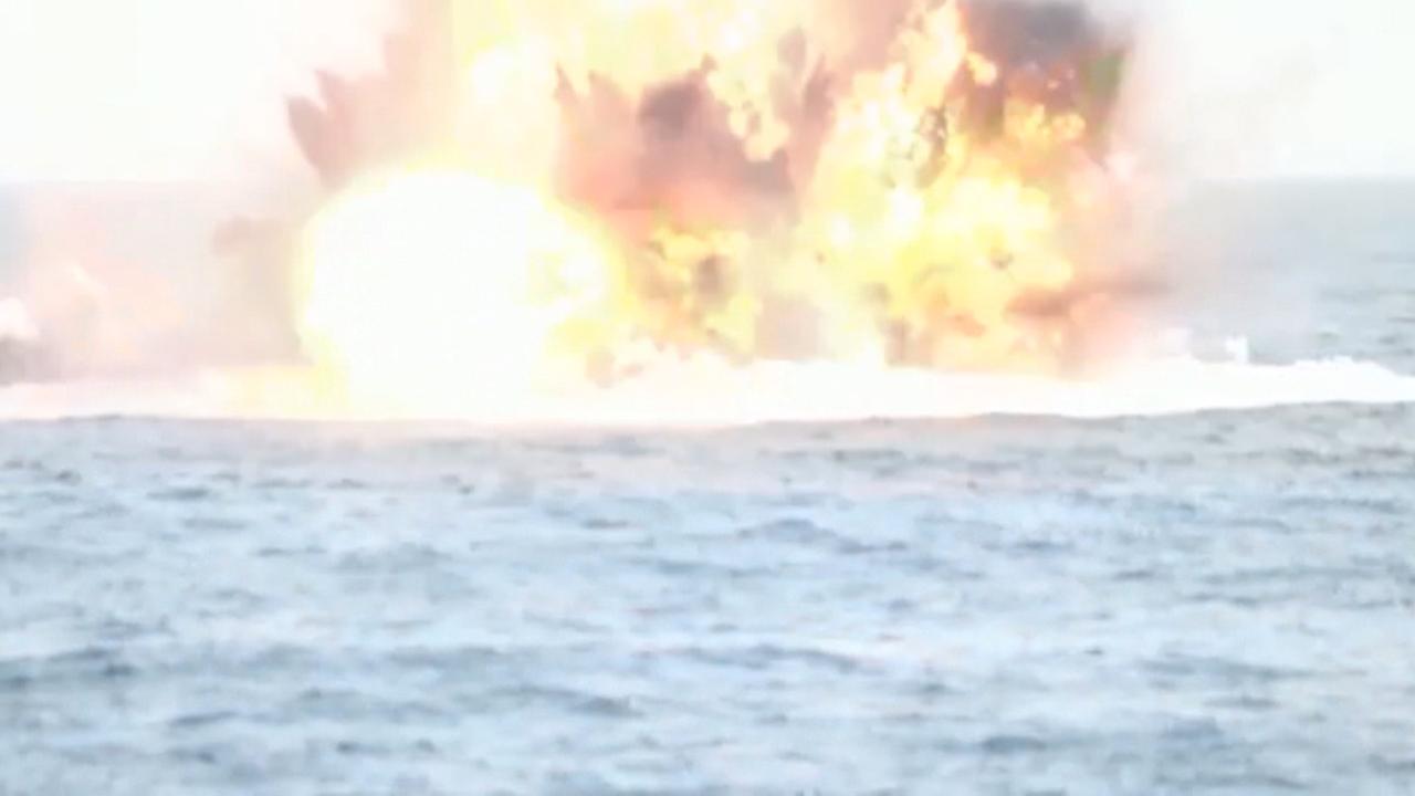 Saudische schutters blazen Houthi-boot vol mijnen op