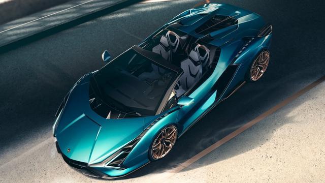 Lamborghini presenteert open versie van hybride Sián