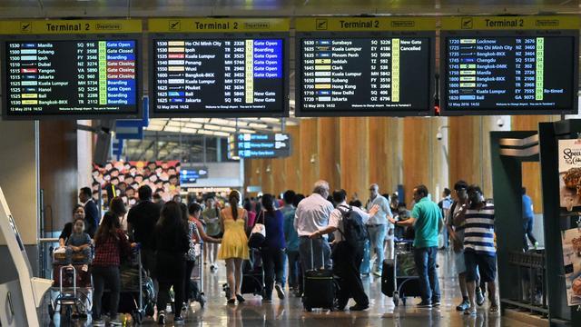 Minder vliegtuigpassagiers door terreurdreiging