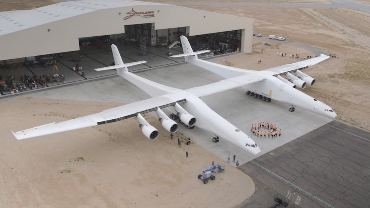 Gigantisch vliegtuig moet raketten lanceren