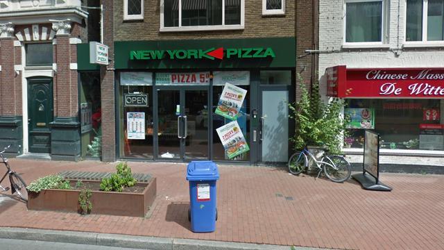 Twee mannen overvallen pizzeria aan Nieuwe Ebbingestraat
