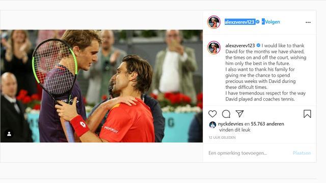 Zverev neemt op Instagram afscheid van Ferrer.