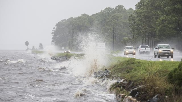 Orkaan Hermine aan land in Florida
