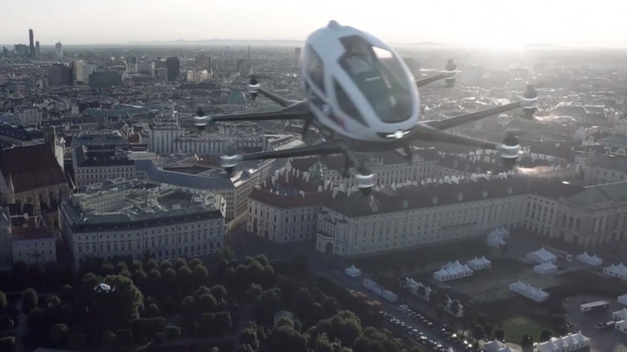 China krijgt de eerste vliegende taxi's
