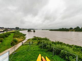 Recordhoog water in de Maas in Limburg, juli 2021.