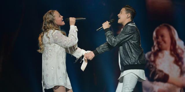 Max & Anne worden dertiende op Junior Songfestival in Minsk