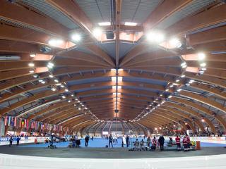 Rijders werken in Gunda Niemann-Stirnemann Halle toe naar Winterspelen