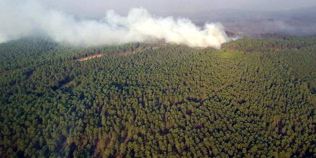 Grote bosbrand in westen Spanje