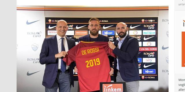 Clubicoon De Rossi (33) tekent voor 17e en 18e seizoen bij AS Roma