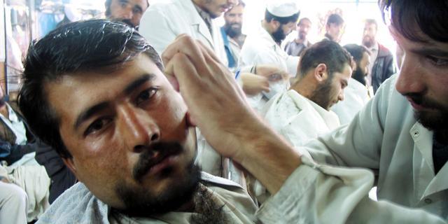 Kappers in Helmand mogen van Taliban geen baarden meer trimmen of scheren