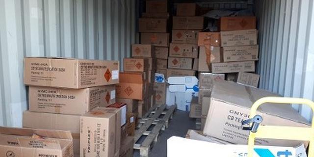 Politie vindt bijna 7.000 kilo illegaal vuurwerk op twee locaties