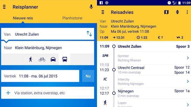 NS Reisplanner voegt meerdere ov-reisopties toe