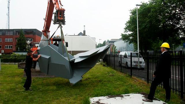 Nieuwe kunst geplaatst in beeldenpark van het ABG