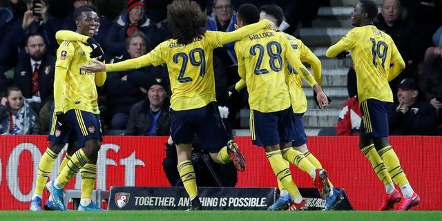Talenten leiden Arsenal naar zege op Bournemouth en Aké in FA Cup
