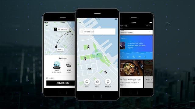 Uber vernieuwt uiterlijk van mobiele app