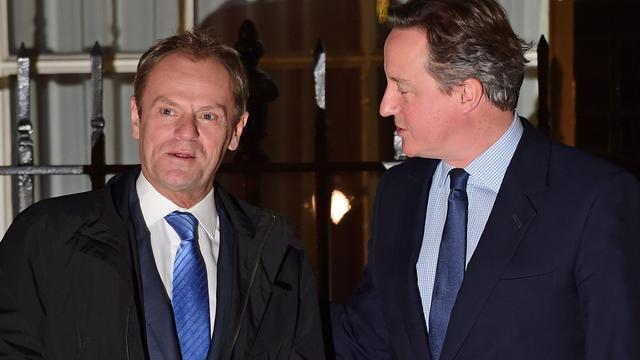 'Tusk en Cameron sluiten akkoord over uitkeringen aan EU-burgers'