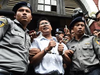 Wa Lone en Kyaw Soe Oo deden verslag van mensenrechtenschendingen