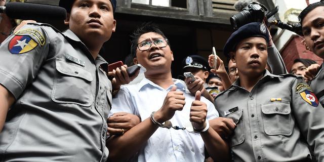 Rechter Myanmar veroordeelt Reuters-journalisten tot zeven jaar cel