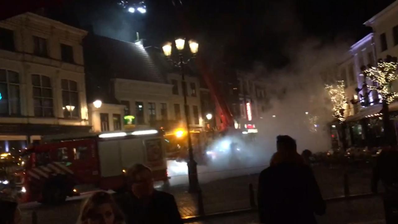 Brandweer blust brand in Breda