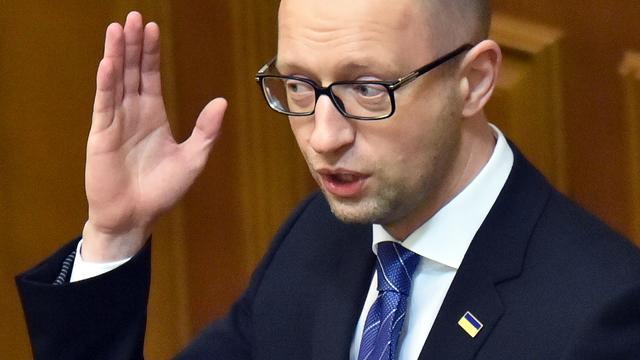 Premier Jatsenjoek van Oekraïne dient ontslag in