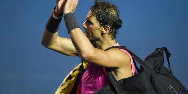 Nadal ondanks drie matchpoints onderuit tegen Kyrgios in Acapulco