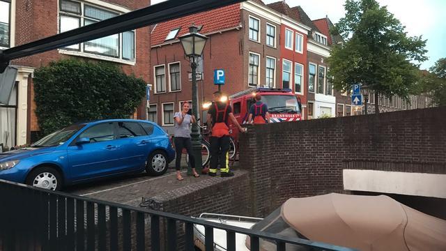 Kelders Rijnstraat in Leiden volgelopen na breuk waterleiding