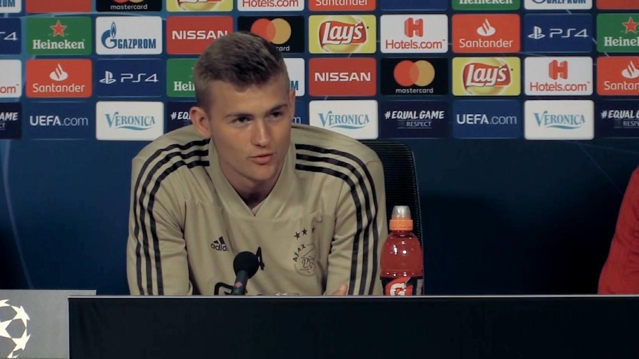 De Ligt: 'Weet hoe het is om als Ajax-fan op tribune te zitten'