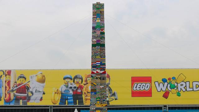 Hoogste legotoren ooit gebouwd herrijst bij Utrechtse Jaarbeurs