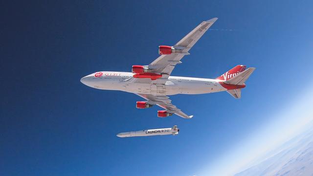 Virgin Orbit probeert raket vanaf vliegtuig te lanceren, zonder succes