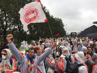 Driehonderd actievoerders besloten zelf weg te gaan