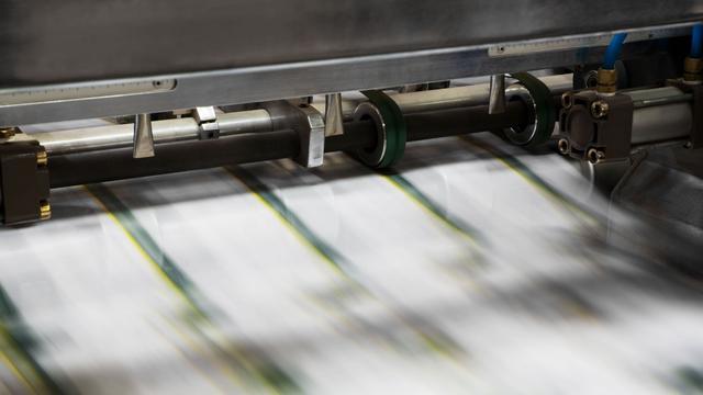 Medewerkers drukkerij De Persgroep leggen werk neer