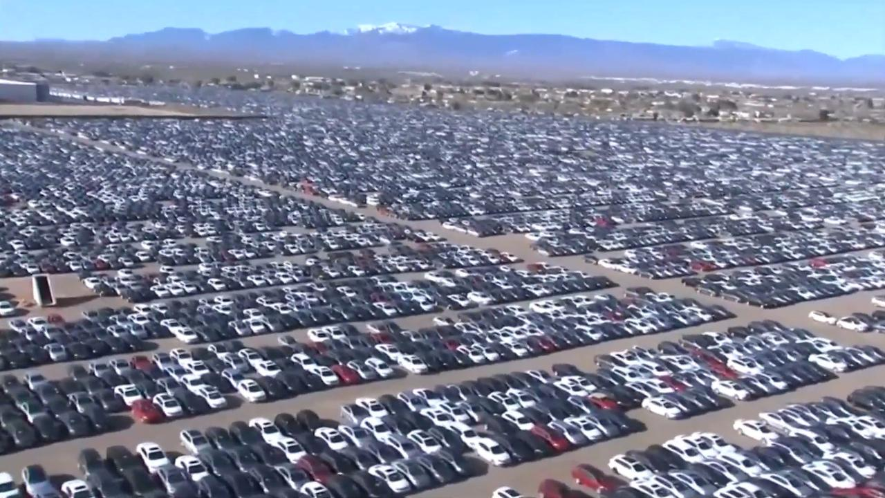 300.000 afgedankte Volkswagens in woestijn VS