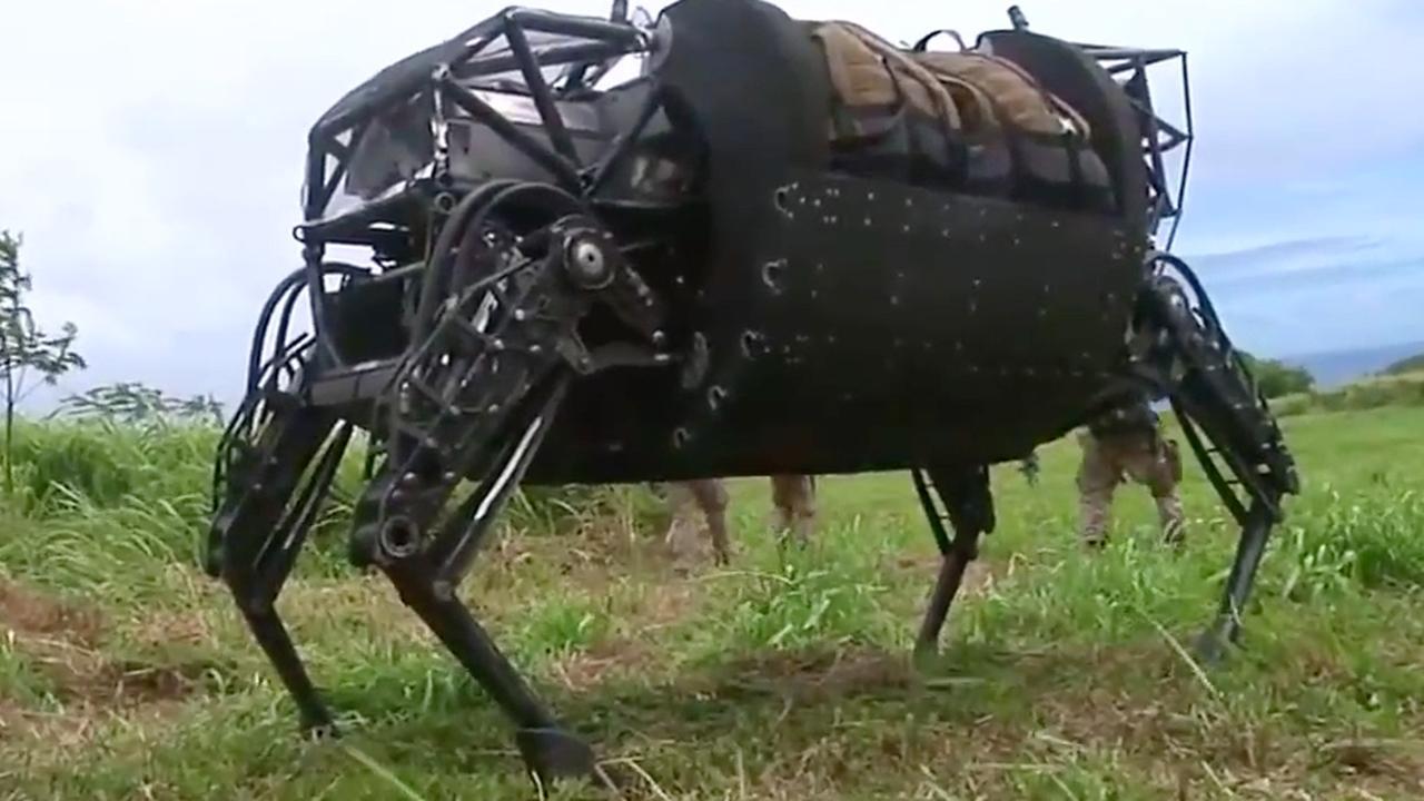 Beelden van de robotezel van de Amerikaanse marine