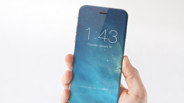 'iPhone 8 gebruikt glazen behuizing voor draadloos opladen'