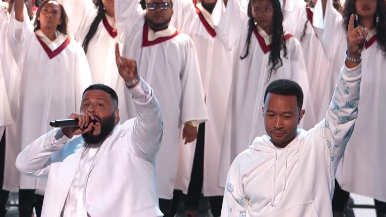 DJ Khaled en John Legend eren doodgeschoten Nipsey Hussle