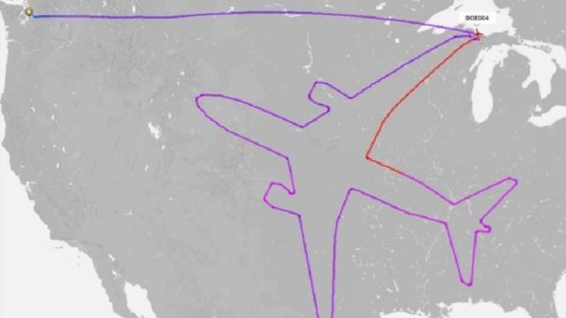 Boeing 'tekent' vliegtuig op radar tijdens testvlucht boven VS