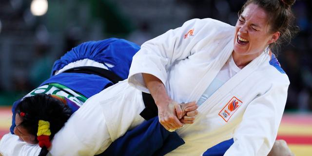 Judoka Verkerk grijpt naast brons bij WK in Boedapest