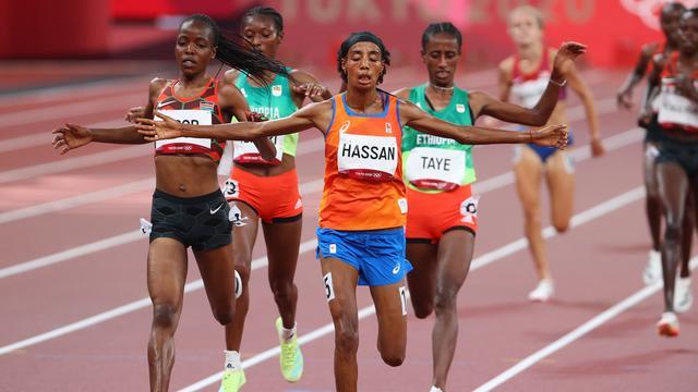 Sifan Hassan was de snelste in de series van de 5.000 meter.