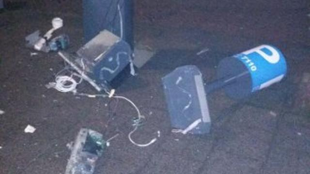 Parkeerautomaten opgeblazen in Leiden-Noord