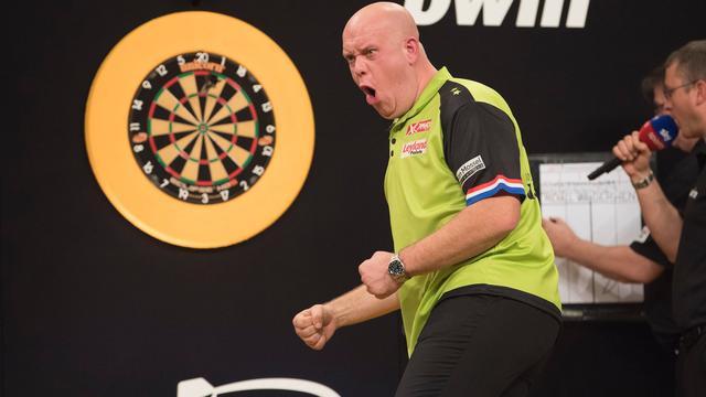 Van Gerwen kwartfinalist, Harms uitgeschakeld op Grand Slam of Darts