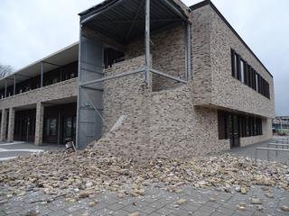 Muur stortte in tijdens westerstorm op 3 januari