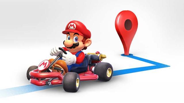 Google Maps voegt Mario Kart aan routebepaling toe