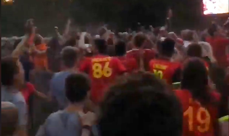Enorme ontlading bij Belgische fans na winst op Japan