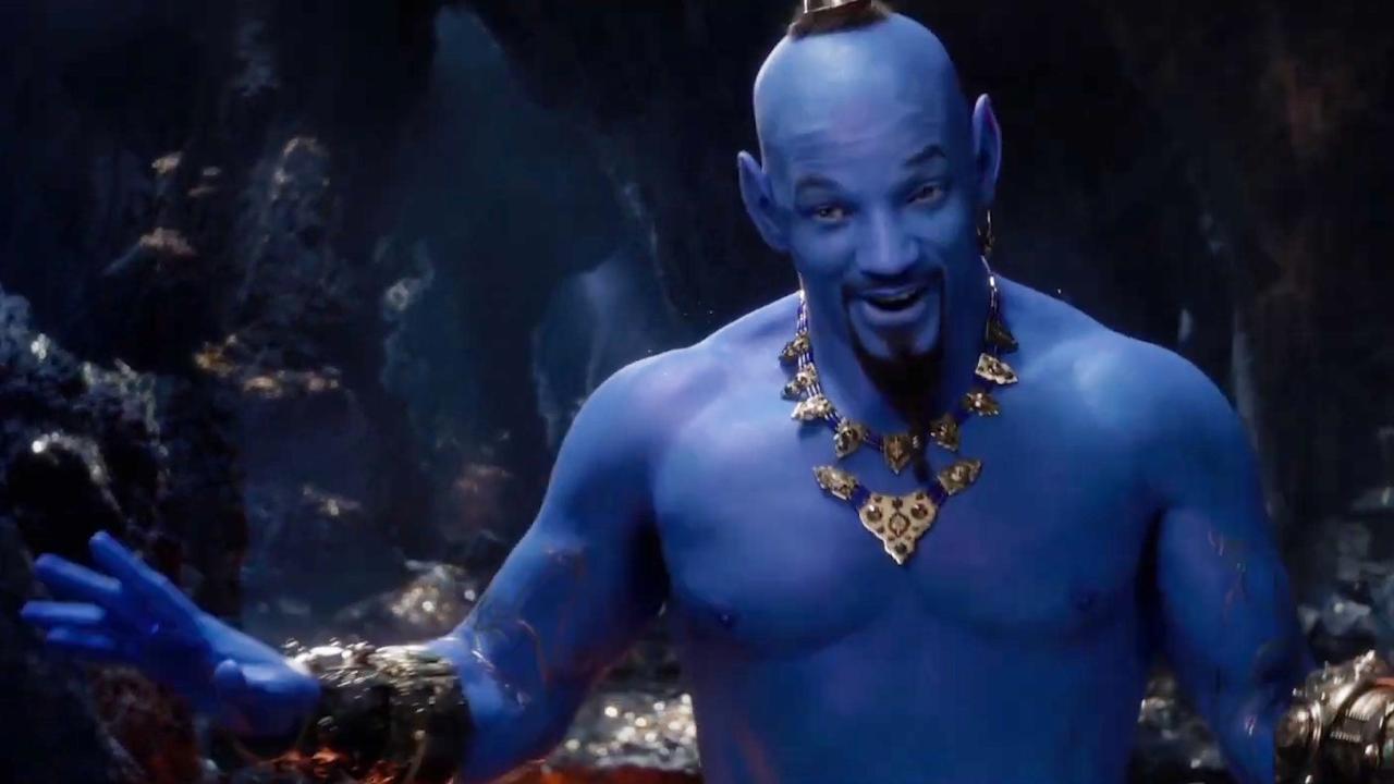 Will Smith in trailer Aladdin voor het eerst als blauwe Geest te zien