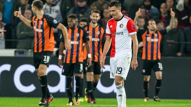 Feyenoord verliest ook van Shakhtar en blijft puntloos in Champions League