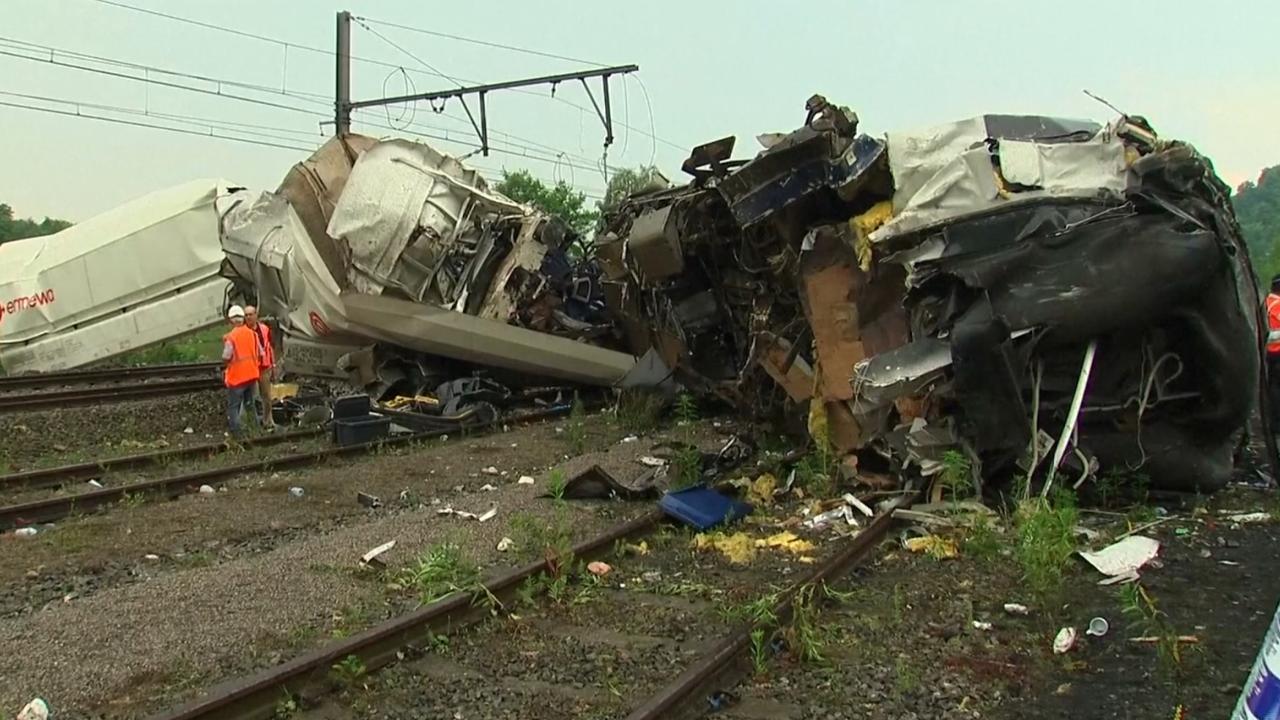 Ravage na botsing tussen treinen in België
